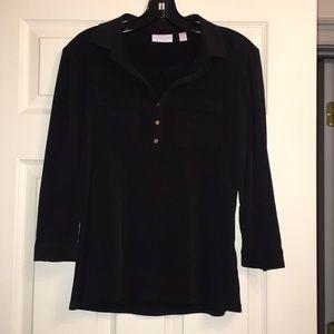 New York and Company black 3quarter sleeve top